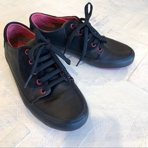 Camper Black and Pink Leather and Suede Sneakers